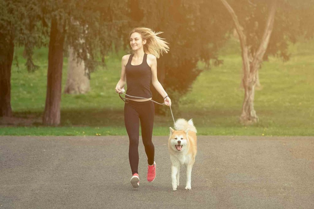 Running with dogs is good pet exercise for you and your dog